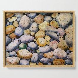 beach stones Serving Tray