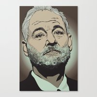 bill murray Canvas Prints featuring Bill Murray  by Jordan McLaughlin