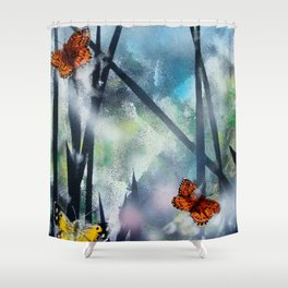 Westhay Butterfly 1 Shower Curtain