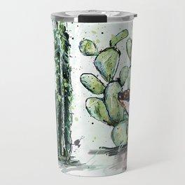 Cactus Horizontal Travel Mug