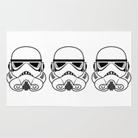 stormtrooper Area & Throw Rugs featuring Stormtrooper by Nicole Dean
