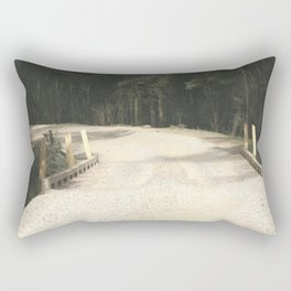 Wooden Bridge Rectangular Pillow