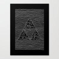 joy division Canvas Prints featuring Triforce // Joy Division by Daniel Mackey