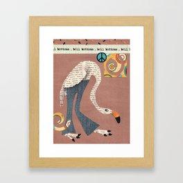 Birds Wear Clothes - Bell Bottoms Framed Art Print