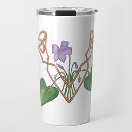 V is for Violet Travel Mug