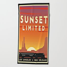Vintage poster - Sunset Limited Beach Towel