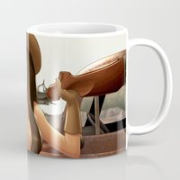 tequila Mugs featuring Tequila Cowgirl by Shelly Soneja