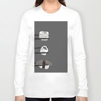 sushi Long Sleeve T-shirts featuring Sushi! by Caitlin Krupinski