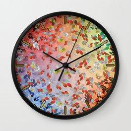 Teardrop Leaves Wall Clock
