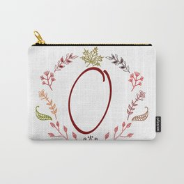 Floral O letter Carry-All Pouch