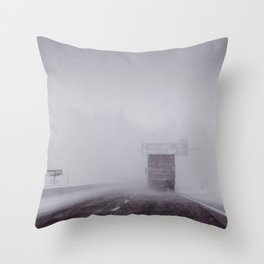 through the snow Throw Pillow