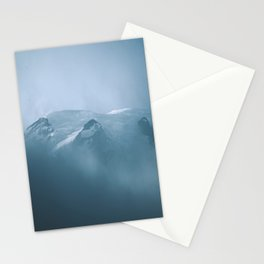 Cloudy Mount Rainier Stationery Cards