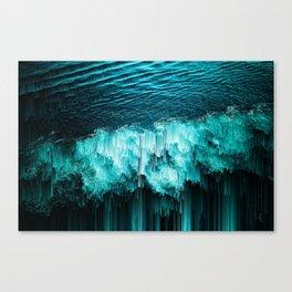 sea glitchy Canvas Print