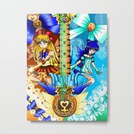 Sailor Mew Guitar #23 - Sailor Venus & Mew Minto Metal Print
