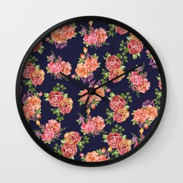 nature floral Wall Clock
