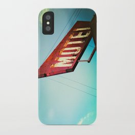 motel schmotel iPhone Case