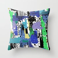 into the wild Throw Pillows featuring wild by beautifyprints