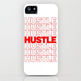 Hustle Thank You Plastic Bag Typography iPhone Case