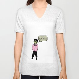 Hipster Frank Color Unisex V-Neck