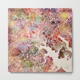 Baltimore map warm colors Metal Print