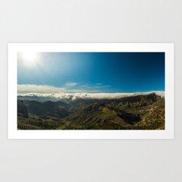 Cloudy landscape Art Print
