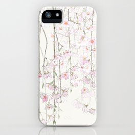 pink cherry blossom iPhone Case
