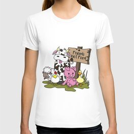 Friends Not Food Animal Rights Pig Cow present T-shirt