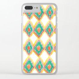 The Chevron Flame - aztec watercolour pattern Clear iPhone Case