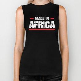 Made In Africa, African Pride, I Love Africa, Africa Gift Biker Tank