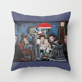 Doctors Playing Poker  Throw Pillow