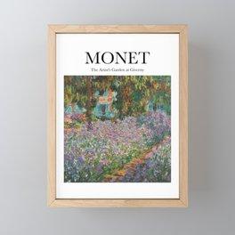 Monet - The Artist's Garden at Giverny Framed Mini Art Print