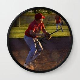 Baseball Action Wall Clock