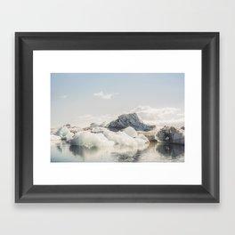 Icebergs II Framed Art Print
