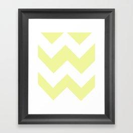 Mustard Chevron Framed Art Print