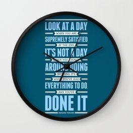 Lab No. 4 Look At A Day When Margaret Thatcher Inspirational Quote Wall Clock