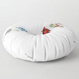 5 Birds Floor Pillow