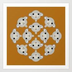 Sheep Circle - 2 Art Print