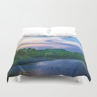 racoon Duvet Covers featuring Little Racoon River by Judith Lee Folde Photography & Art