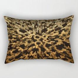 Gold and black 3d blocks Rectangular Pillow