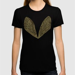 Cicada Wings in Gold T-shirt