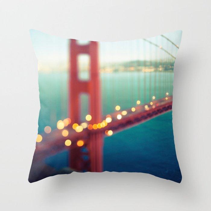 Meet Me In San Francisco Throw Pillow