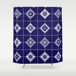 Talavera Mexican Tile – Porcelain Palette Shower Curtain