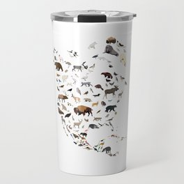 Wild North America map Travel Mug
