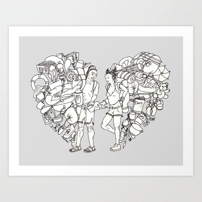 The backpackers Art Print