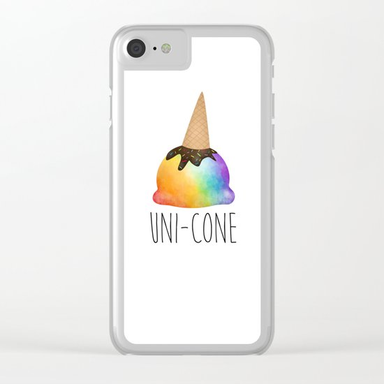Uni-cone Clear iPhone Case