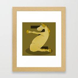 Monogram Z Pony Framed Art Print