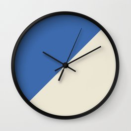 Blue Right Angle Wall Clock