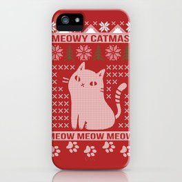 MEOWY CATMAS iPhone Case