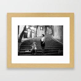 girls in cefalu Framed Art Print