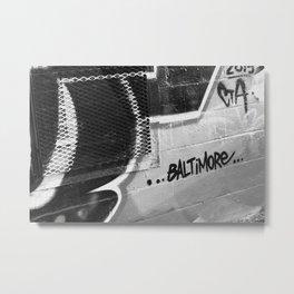 BW Baltimore Metal Print